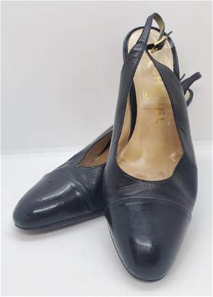 Chanel Black Strap High Heel Size 36 shoes