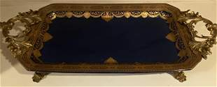 Bronze And Porcelain Serving Tray