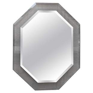 Mid-Century Modern Lucite Octagonal Mirror