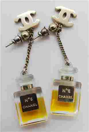 Authentic Chanel Bottle Earrings