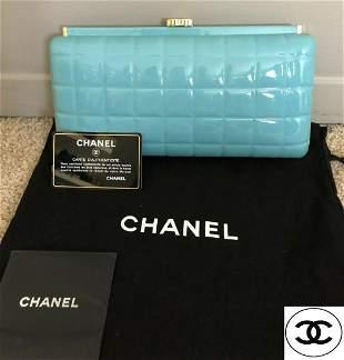 Authentic Enamel Chanel Turquios Clutch