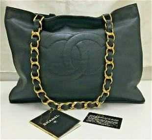 XL Chanel Lambskin Tote Shoulder Bag