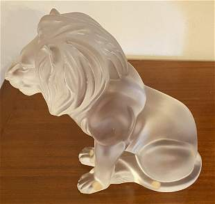 Lalique Bamara lion Sculpture