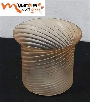 """Hand blown Italian Murano glass vase 8""""×7"""""""