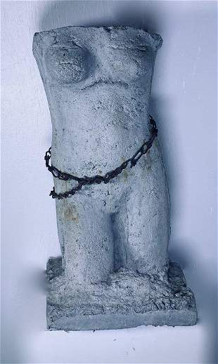 E 20thc Italian Cement Metal Sculpture/Planter