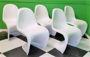 Set of 5  Mid century fiber Glass Panton style Chars