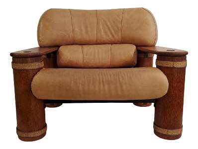 Messina/ Somoan Ostrich Emb. Chair Pacific Green