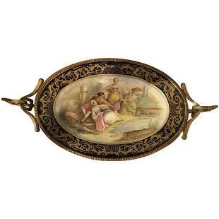 Late 19th Century Sèvres Style Porcelain Gilt Bronze