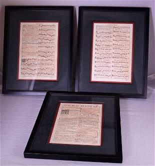 Print of 18thc Prayer, Ordo Missae Set of Three