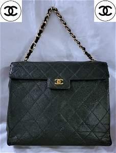 Chanel Jumbo Caviar Skin CC Chain Shoulder Bag