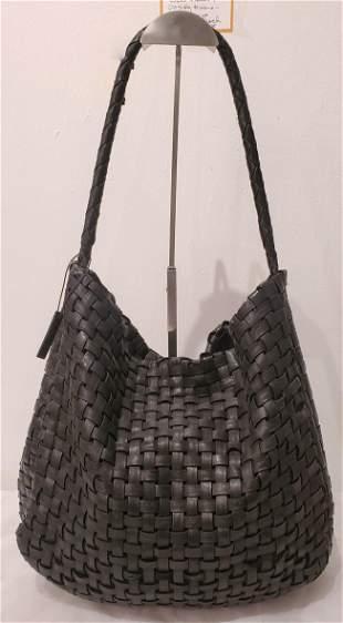 Large Knit Black Italian Tote Bag