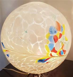 Italian Glass Sphere Lamp