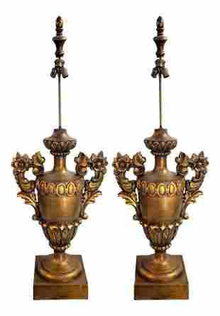 Monumental 55h Italian Table/Floor lamps