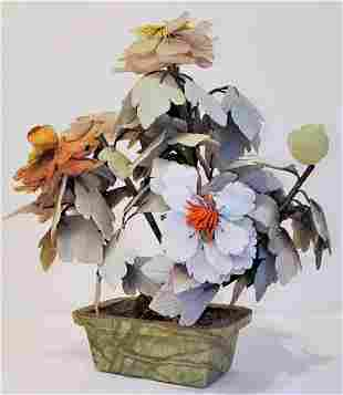 Floral Asian Jade Planter