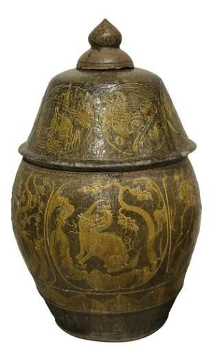 Monumental Antique Chinese Vase Circa 17thc/18thc