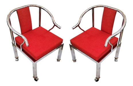 50s Modern Chrome Chairs by Design Studio Institue