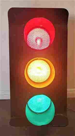 Vintage Metal Stop Light