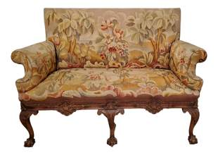 Antique French Needle Point Sofa