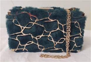 Vintage Modern Clutch and chain hand bag