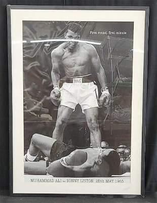 Muhammed Ali VS Sonny Liston framed poster