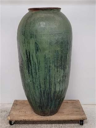 Monumental Midcentury Handmade and glazed pottery Vase