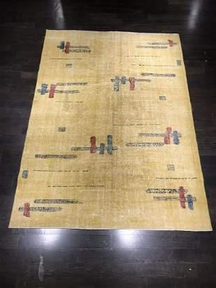 6ft 10in X 9ft 7in VINTAGE TURKISH DESIGNED RUG BY ZEKI