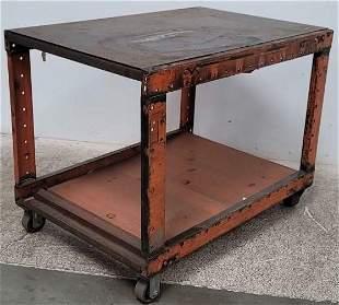 Metal Industrial Bar Cart or Trolley