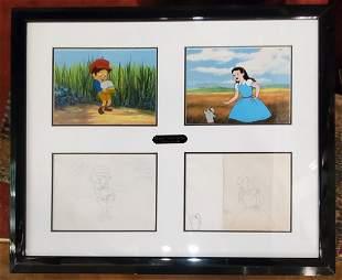 Original Production Cel Of Pinnochio and Dorothy