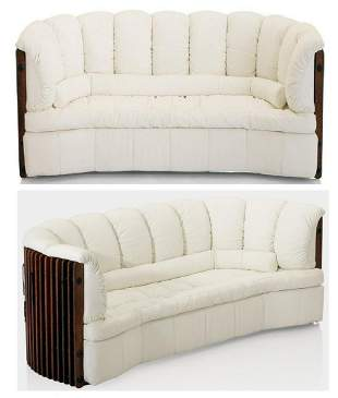 Pacific Green Rare d'Palm Large White Leather Sofa