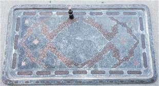 Late 19thc Oversized Monumental Persian Silvered &