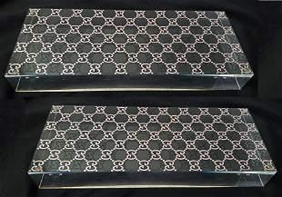 Gucci Acrylic Large Base Display Block ,Pair