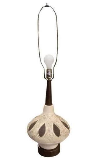 Mid-Century Modern Bulbous Table Lamp Mid-20th Century