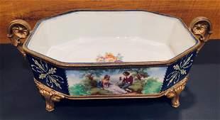 20thc Porcelain French Gilt Center Piece