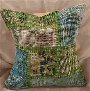 Green And Blue Hand Made Pillows