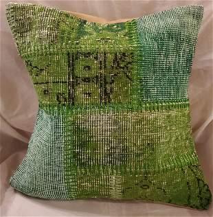 Green Hand Made Pillow