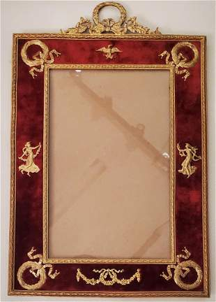 Antique French Oversized Gilt Picture Frame Antique