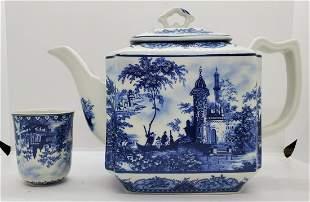 20thc Porcelain Tea Set Tea Pot And Cup