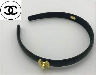 Authentic Chanel Leather Headband