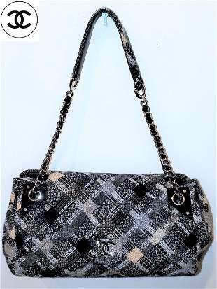 Chanel Tweed Accordion CC Flap Bag