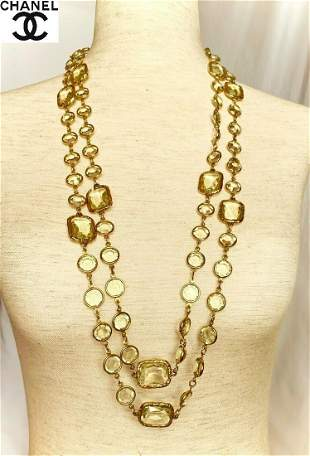 Auth Rare Vintage Chanel Chicklet Dripox Necklace