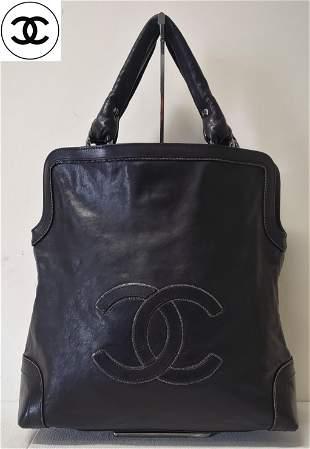 Authentic Chanel Jumbo CC Leather Handbag