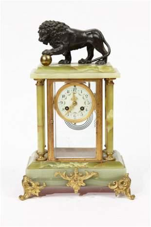 19th century French onyx gilt bronze clock