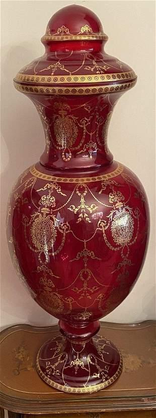 large Bohemian Style Vase