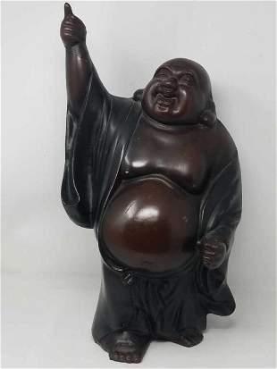 Old Asian metal Buddha sculpture 18 inch high