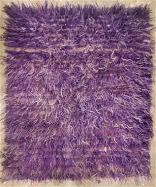 Vintage Purple Hand Made Moair Turkish Rug