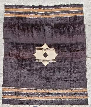 Hand Made Mid Century Mohair Turkish Rug