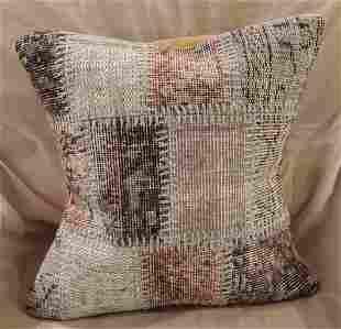 Light Gray Hand Made Pillow