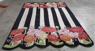 Mackenzie- Childs Striped Floral Rug 109 x 72