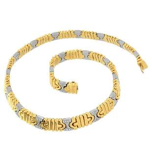 Bulgari Diamond 18kGold Necklace