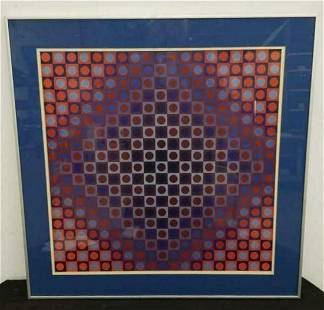 Victor Vasarely lithographic poster